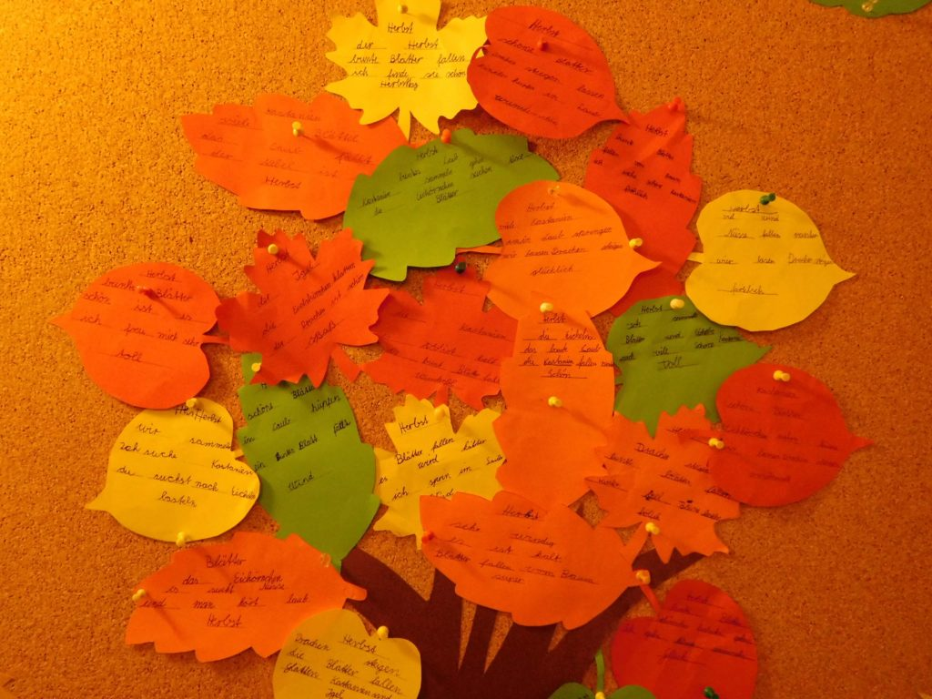 Herbst Elfchen Der Klasse 3a Grundschule Rosenstrasse